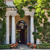 front entrance to mansion: Front of mansion at Filoli Gardens