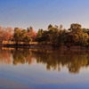Vaasona lake in winter: Colorful Vasona Lake reflection, shot in the winter, in Los Gatos, CA.