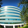 office building  with fisheye len's: Office building in Mountain View, CA.