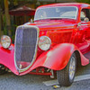classic old car show car red