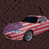 Patriotic painted sports car
