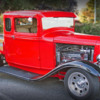 side view of classic  Ford pickup