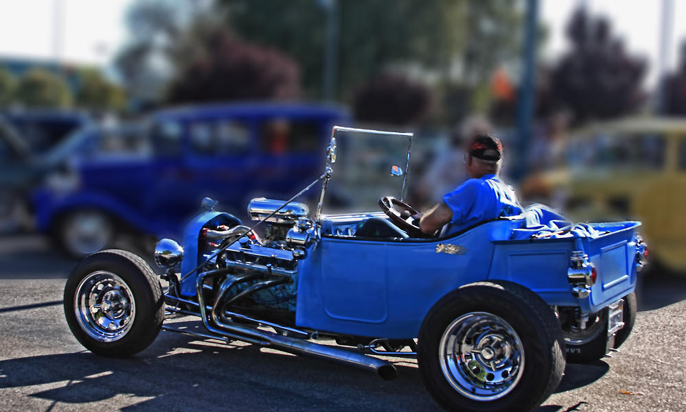 blue classic ford