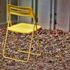 A yellow chair...