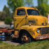 OLD YELLOW 1948 SNUB NOSE TRUCK