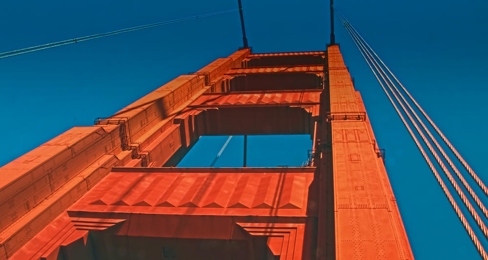 up the beautiful Golden Gate