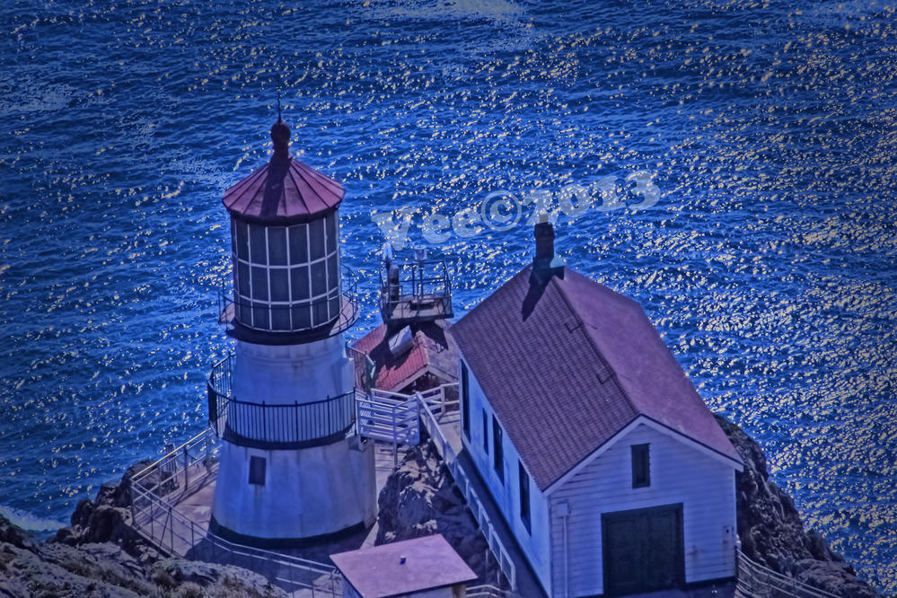 Lighthouse and the sea....