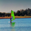 one wind surfer